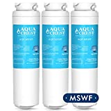 mswf replacement cartridge - AQUACREST MSWF Replacement for GE MSWF, 101820A Refrigerator Water Filter (Pack of 3)