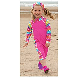 Sun Smarties Toddler Girl UPF 50+ Non-Skid Sand and Water Socks Large Purple