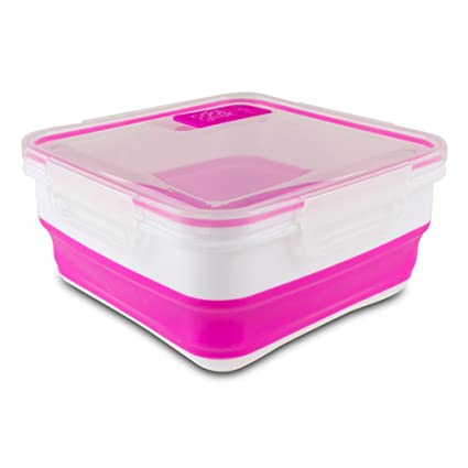 Amazoncom Cool Gear 1959 Expandable Food Storage PinkWhite