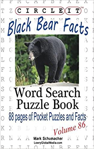 Book Circle It, Black Bear Facts, Word Search, Puzzle Book