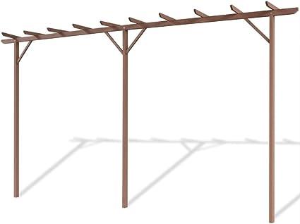 vidaXL Pérgola Soporte Planta Flores Trepadoras Jardín Porche Cenador Decoración Patio Base Estable Duradera Resistente WPC 400x40x195 cm