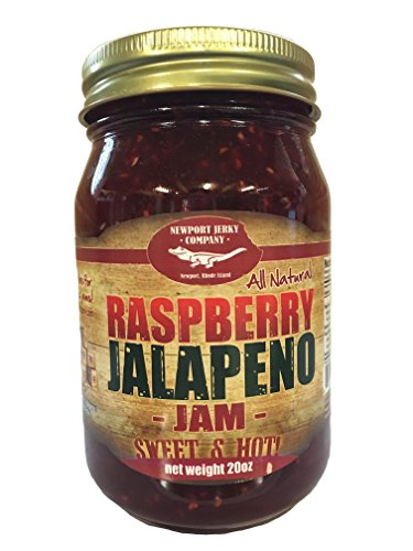 (Gourmet Raspberry Jalapeno Jam Handcrafted Small Batch (FAT FREE, GLUTEN FREE & ALL)