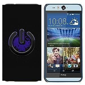 TECHCASE---Cubierta de la caja de protección para la piel dura ** HTC Desire Eye ( M910x ) ** --Apágame