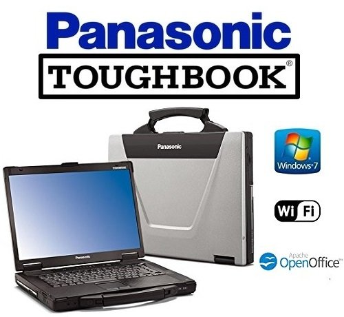 Sturdy Panasonic Rugged Laptop CF-52 - Win 7 PRO Toughbook - Core 2 Duo 2.4GHz - 4GB Memory - 512GB SSD HDD - 15.4