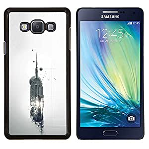 LECELL--Funda protectora / Cubierta / Piel For Samsung Galaxy A7 A7000 -- Empire State Building Abstract Sci Fi --