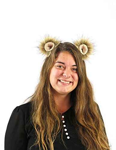 Lioness Costume Accessories (Kritter Klips - Lion Clip On Animal Ears)