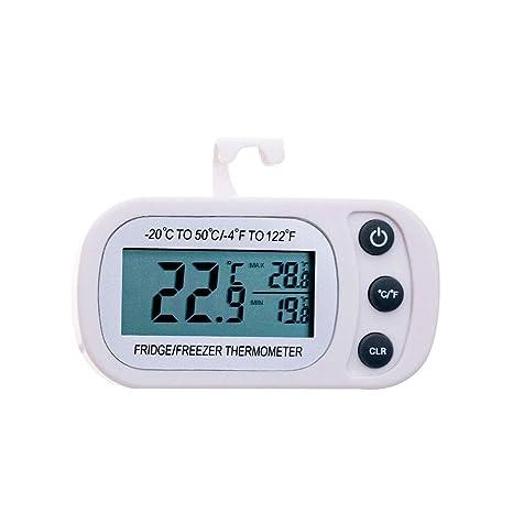 Linowi Mini Digital Termómetro de Refrigerador Impermeable con LCD ...