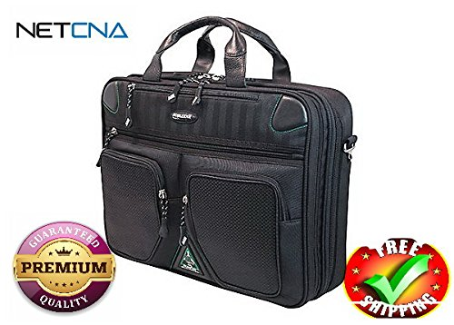 Mobile Edge ScanFast Checkpoint Friendly Briefcase 2.0 - notebook carrying- With Free NETCNA Printer Cable - By NETCNA - Edge Notebook Briefcase
