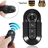 Bysameyee Car Key Spy Cam Full HD 1080P Remote Control Video Camcorder Mini Keychain Camera Hidden Recorder with Night Vision Motion Detection – Black Metal Body