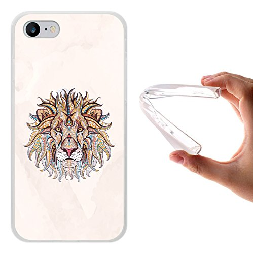iPhone 8 Hülle, WoowCase Handyhülle Silikon für [ iPhone 8 ] Ethnischer Löwe Handytasche Handy Cover Case Schutzhülle Flexible TPU - Transparent