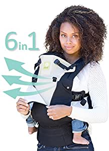 SIX-Position, 360° Ergonomic Baby & Child Carrier by LILLEbaby – The COMPLETE All Seasons (Black/Camel)