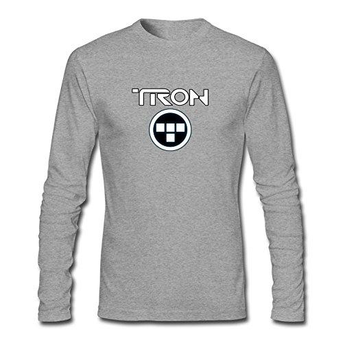 ZHENGXING Men's TRON Uprising Logo Long Sleeve T-shirt L ColorName (Paige Beanie)