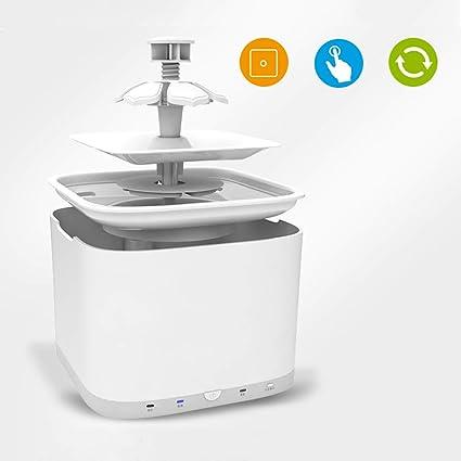 Dispensador de agua para mascotas Cat Dog Fuente de Agua 2L Capacidad de Agua Flor súper
