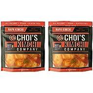 (2) 14 oz. Spicy Napa Cabbage Kimchi [Vegan, Gluten Free, Non-GMO, Probiotic] by Choi's Kimchi Co. Made in USA.