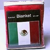 Mexican Flag Fleece Blanket 5 ft x 4.2 ft. Bandera de México Cobija Manta Throw Cover