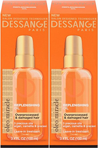 Price comparison product image Dessange Paris Oleo Miracle Replenishing Oil, 3.4 Ounce (Pack of 2)
