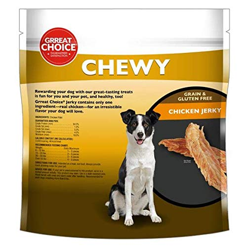 Grreat Choice Chewy Grain Free Chicken Jerky Dog Treats Large 32oz Bag