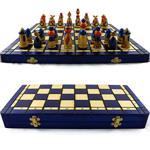 Chess Hand Set Decorated - Chess Sets for Adults with Storage - Handmade Matryoshka Chess Set