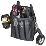 Atlas 46 AIMS Professional Technician's Pouch Black, Small | Work, Utility, Construction, Technician and Contractor