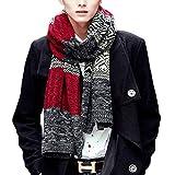 Fashion Mens Striped Aztec Argyle Pattern Winter Neck Warm Wrap Knit Long Scarf Shawl