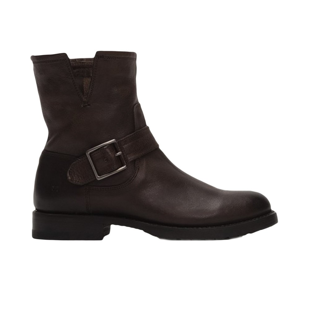FRYE Women's Natalie Short Suede Engineer Boot B01A6MCVIK 8 B(M) US|Dark Brown