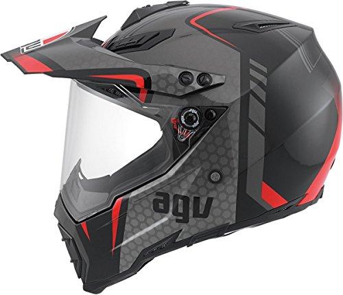 AGV AX-8 Dual Sport Evo Helmet (Black/Silver/Red, Medium) by AGV (Image #2)
