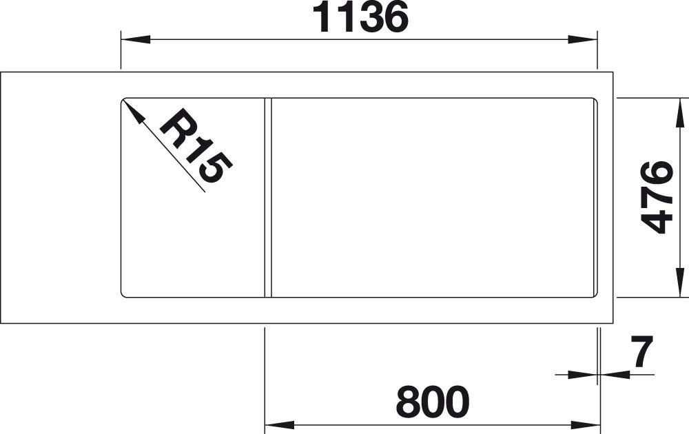 Einbausp/üle Blanco Lantos 6 S-IF Centric mit Ablauffernbedienung und Schale reversibel Edelstahl B/ürstfinish 521754 K/üchensp/üle f/ür normalen und fl/ächenb/ündigen Einbau