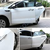 13FT(4M) LEOZO Rubber Seal Car Door Edge Guards Car Edge Door Trim Seal Protector for more Vechiles White