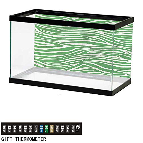 bybyhome Fish Tank Backdrop Green,Wildlife Africa Safari Animal,Aquarium Background,30