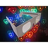 Fireworks Diffraction Glasses - Rainbow Hearts Halospex Glasses - 20 pair