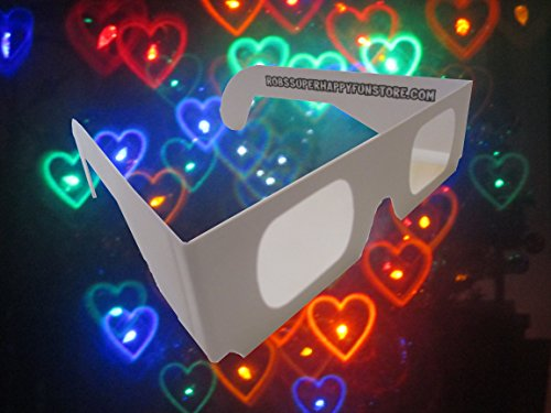 Fireworks Diffraction Glasses - Rainbow Hearts Halospex Glasses - 20 pair