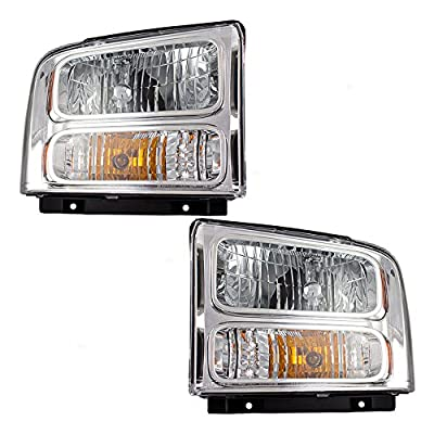 Driver and Passenger Combination Headlights Headlamps Replacement for Ford Pickup Truck SUV 6C3Z13008BB 6C3Z13008AB