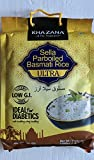 Khazana Ideal for Diabetics Low G.I. Index Value Sella Parboiled Basmati Rice Ultra - 10 lbs
