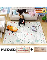 BEKOBABY Baby Play Mat XPE Foam Floor Gym Children Mats 58x77In Baby Room Foldable Foam Mats for Kids Baby Game Blanket with Bag
