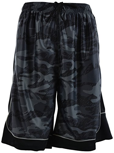 Mens Two Tone Training/Basketball Shorts with Pockets (S up to 4XL) (L, 389-Charcoal)