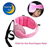 Child Car Seat Stroller Head Support Keep Comfortable Safe Sleep Positioner (Pink)