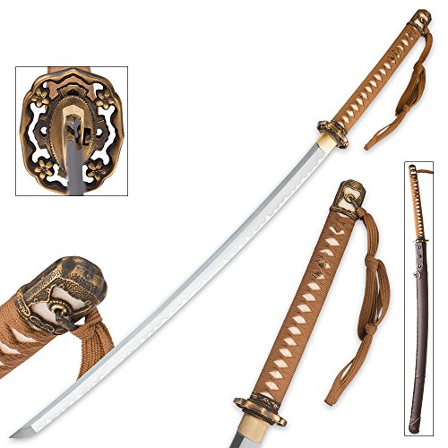 Japanese Officer WWII Replica Katana T10 Steel (Wwii Replica Weapons)