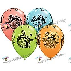 3030cm 12pcs/lot Moana princesa globos de látex decoración de la fiesta de cumpleaños suministros para fiestas niños juguetes, Azul, 30x30cm, 12