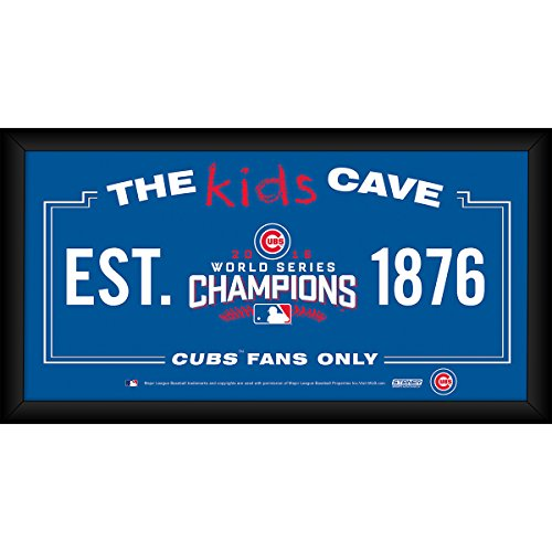 Steiner Sports MLB Chicago Cubs 2016 World Series Champions Framed 10x20 Kids Cave Sign