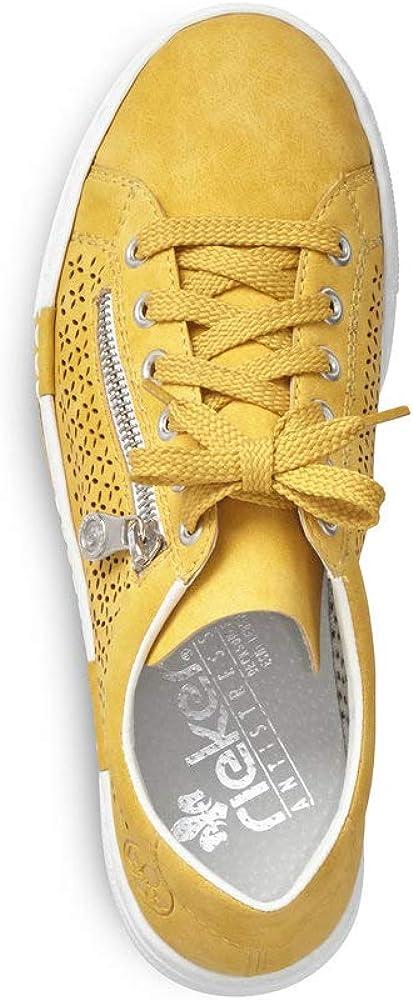 Rieker Femme Chaussures de Ville à Lacets N4948, Dame Chaussures de Sport Sonne 68 Jaune