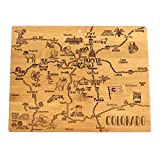 Celebrate life in The Centennial State with the Totally Bamboo Colorado State Destination Bamboo Serving and Cutting Board. This beautifully crafted board is shaped in the outline of the great state of Colorado and features fun, laser-engraved call o...