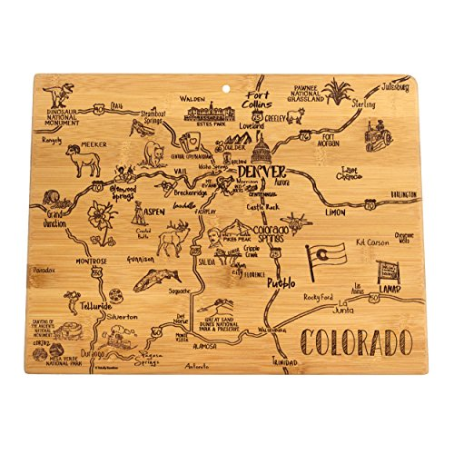(Totally Bamboo Colorado State Destination Bamboo Serving and Cutting)