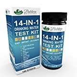14-in-1 Drinking Water Test Kit by Baldwin Meadows - Water Quality Test for Well Water and Tap Water - IMPROVED SENSITIVITY detects low level ranges for Lead, Fluoride, Iron, Copper & Mercury + MORE!