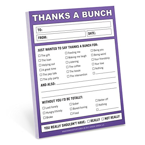 (Knock Knock Thanks a Bunch Nifty Note, Checklist Memo Pad, 4 x 5.25-inches)