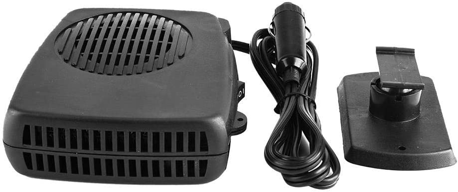 Portable Car Heater 12V 200W ABS Portable Car Auto Heater Cooler Dryer Demister Defroster for Quickly Defrost Defogger Demister