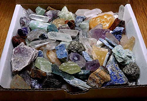 ly1122 Crafters Rock Collection 1 Lb Mix Gems Crystals Natural Mineral Specimens