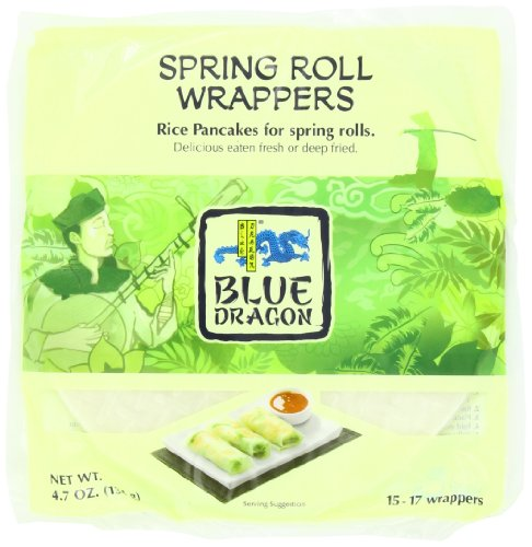 Blue Earth Dragon - Blue Dragon Wrappers, Spring Roll, 4.7-Ounce (Pack of 12)