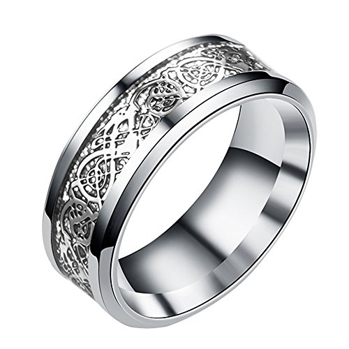 Toponly Women Men Bohemian Vintage Silver Stack Totem Rings Knuckle Above Rings -