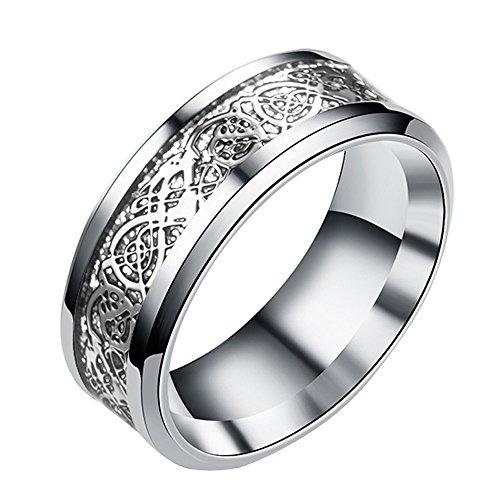Mysky Women Men Bohemian Vintage Silver Stack Totem Rings Above Knuckle Rings