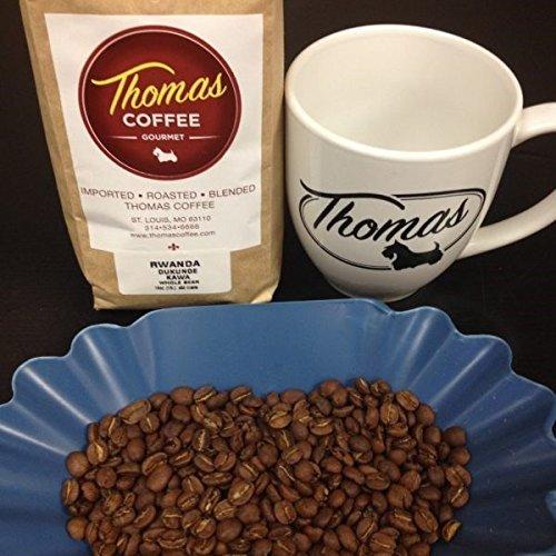 Thomas Coffee Rwanda Dukunde Kawa Whole Bean 16 oz - 1 lb